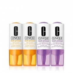 Clinique Fresh Pressed Clinical Daily and Overnight Boosters With Pure Vitamins C 10% + A (Retinol) 4 pack