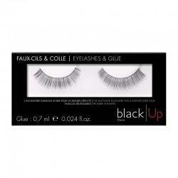 Black Up False Eyelashes & Glue 01