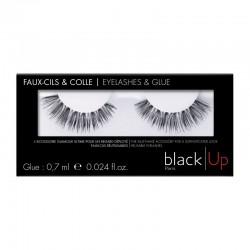 Black Up False Eyelashes & Glue 03