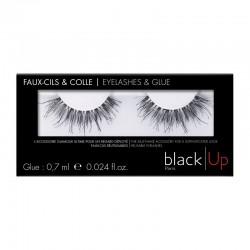 Black Up False Eyelashes & Glue 04