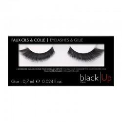 Black Up False Eyelashes & Glue 05