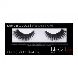 Black Up False Eyelashes & Glue 06