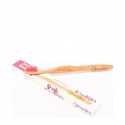 Nordics Bamboo Toothbrush with Pink Bristles