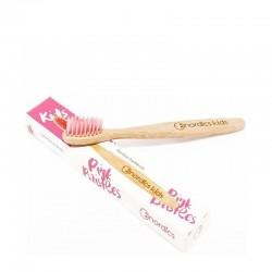 Nordics Kids Bamboo Toothbrush with Pink Bristles