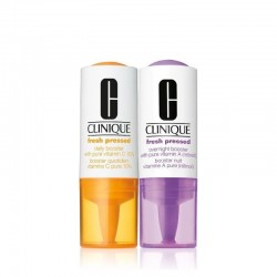 Clinique Fresh Pressed Clinical Daily and Overnight Boosters With Pure Vitamins C 10% + A (Retinol) Duo