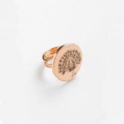Power Of Symbol Peackok Stam Pink Gold Ring