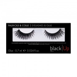 Black Up Insane Curl False Lashes & Glue