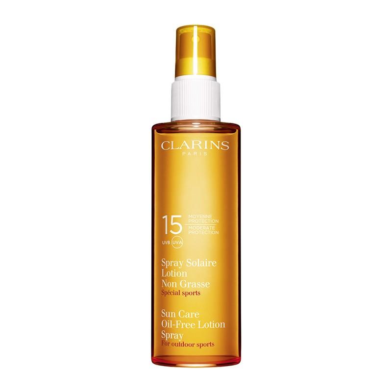 Clarins Sun Care Oil-Free Lotion Spray Moderate Protection UVB/UVA 15 150ml 150m home   προϊοντα ομορφιασ   ήλιος   σώμα