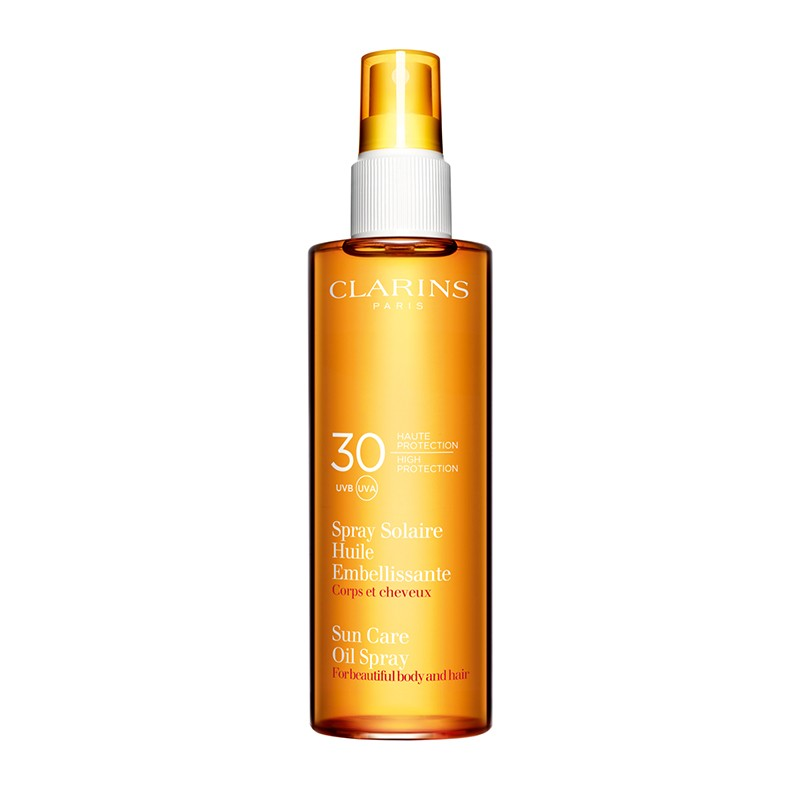 Clarins Sun Care Radiant Oil Spray High Protection UVB/UVA 30 150ml 150ml home   προϊοντα ομορφιασ   ήλιος   σώμα