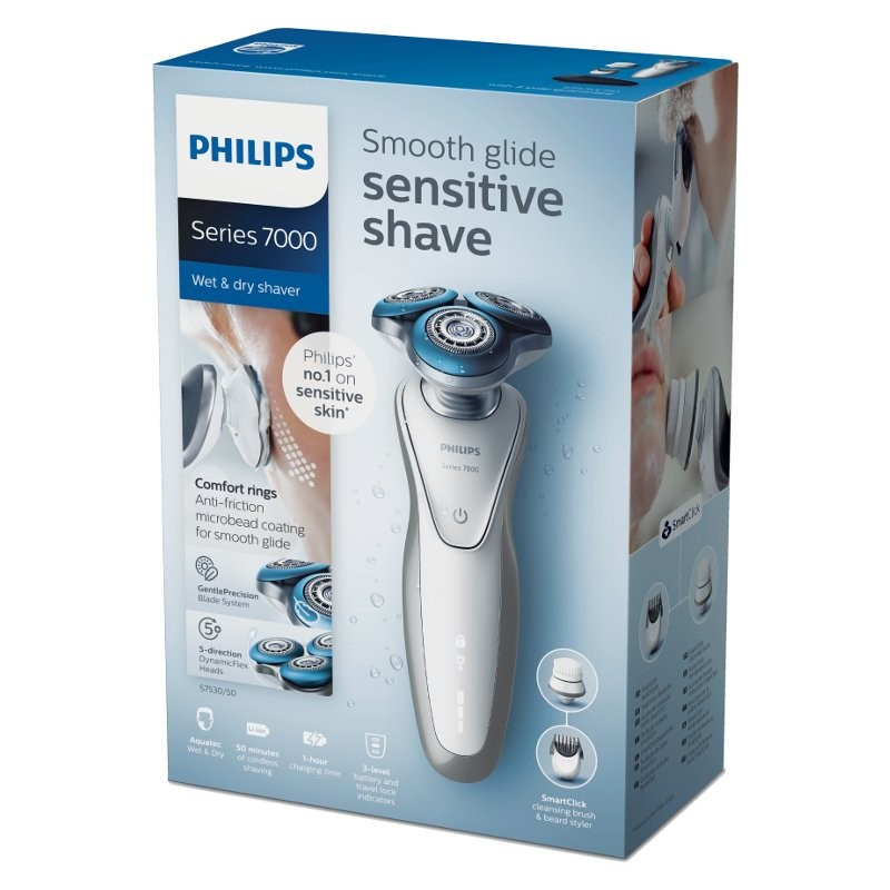 philips shaver series 7000 wet dry shaver s7530 50 gleek. Black Bedroom Furniture Sets. Home Design Ideas